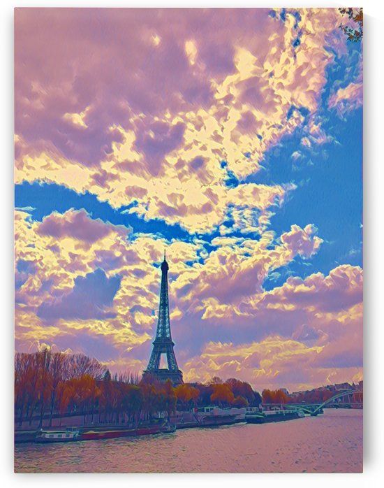 River & Eiffel  by Jessica Toth