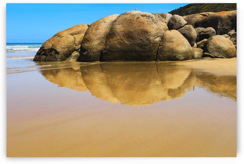 Rocks Reflecting on Wet Sand B010200_1228188 by Maxwell Jordan