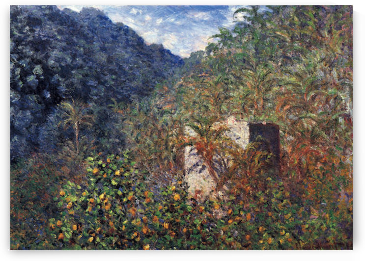 The Valley Sasso, Bordighera by Monet by Monet
