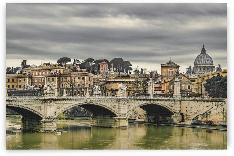 Tiber River Rome Cityscape by Daniel Ferreia Leites Ciccarino