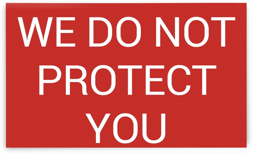 WE DO NOT PROTECT YOU by lenie blue
