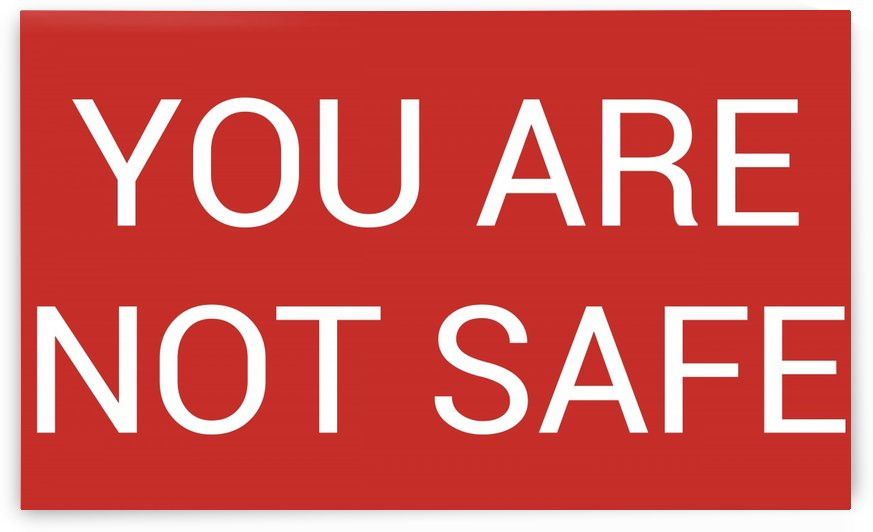 YOU ARE NOT SAFE by lenie blue