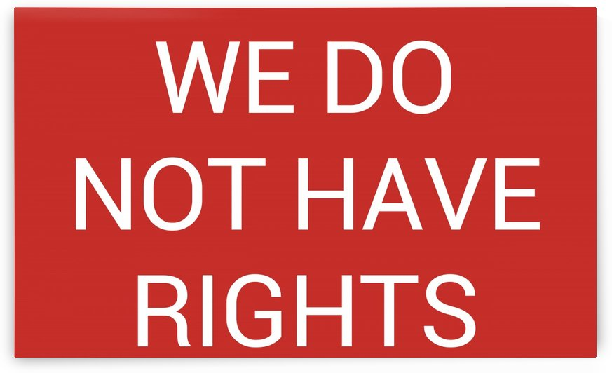 WE DO NOT HAVE RIGHTS by lenie blue