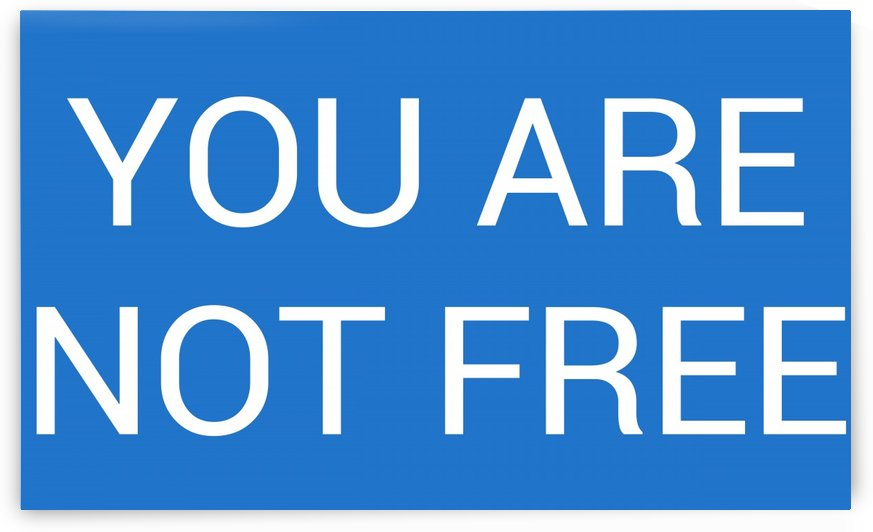 YOU ARE NOT FREE by lenie blue