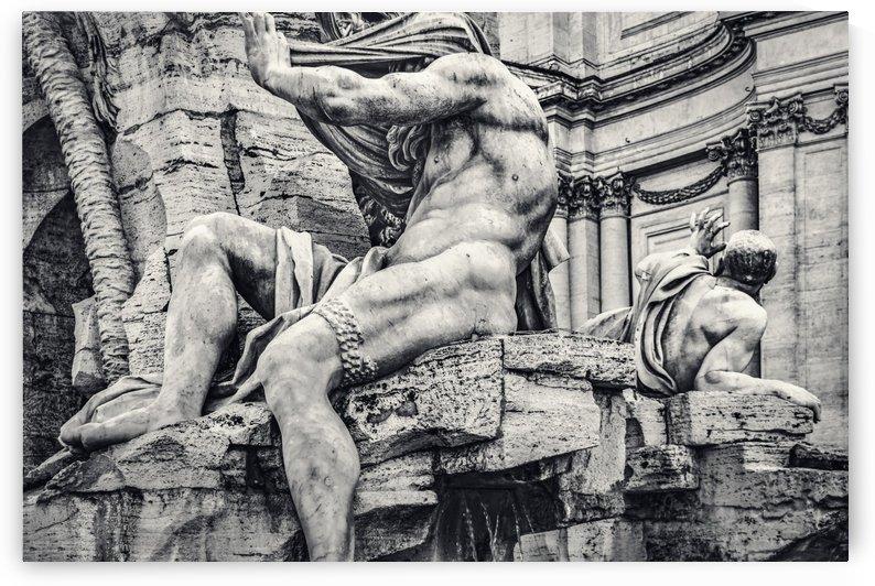 Fontana dei Quattro Fiumi, Piazza Navona, Rome, Italy by Daniel Ferreia Leites Ciccarino