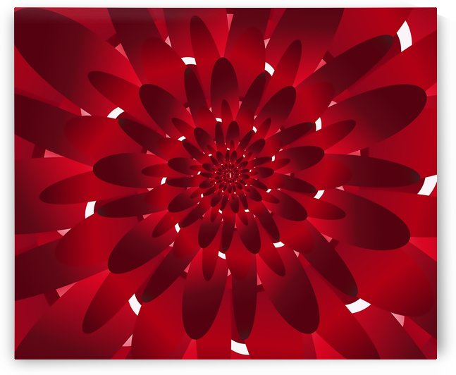 Modern Red Floral Design Art by rizu_designs