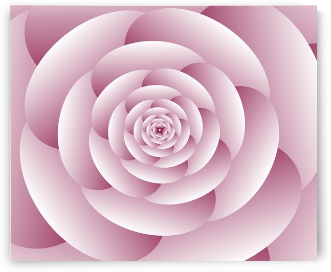 Abstract Flower Spiral Artwork by rizu_designs