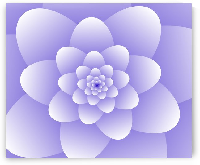 Purple Floral Spiral Artwork by rizu_designs