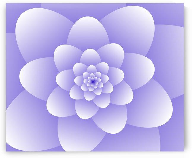Purple Floral Spiral Artwork by Rizwana Khan
