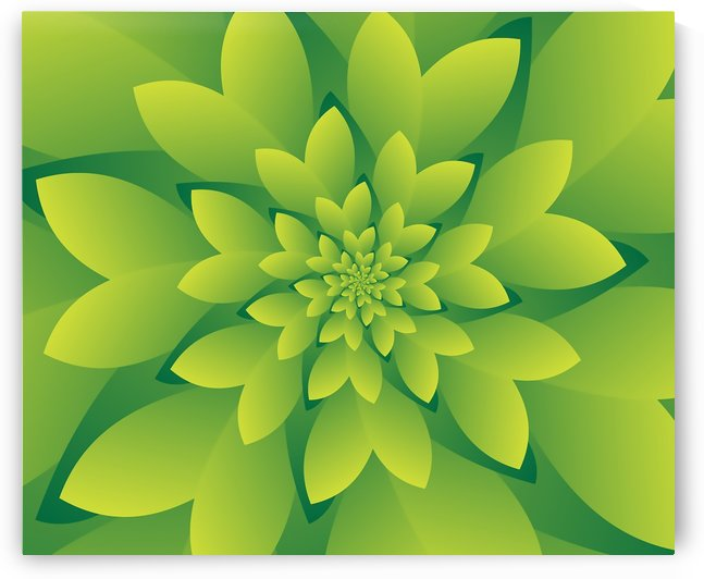 3D Green Floral Art by rizu_designs