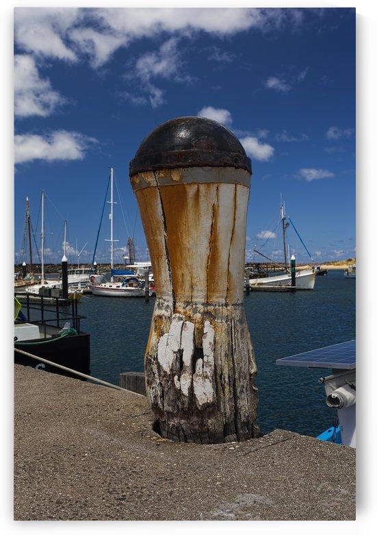 Weathered Bollard at Apollo Bay 011142593 by Maxwell Jordan