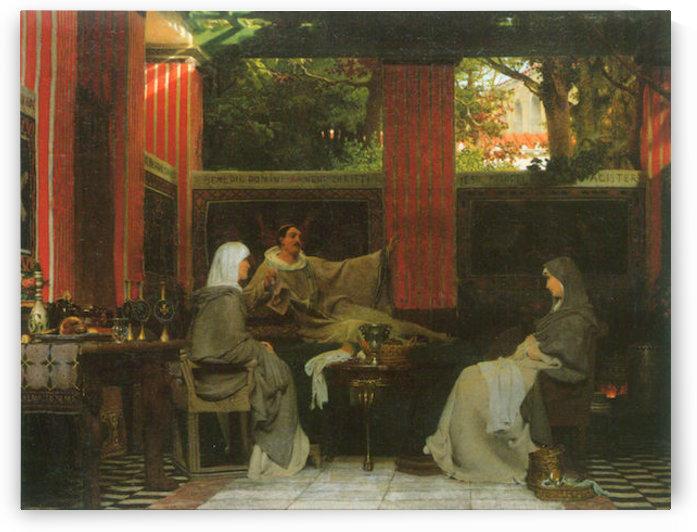 Venantius Fortunatus contributes Radegund VI  by Alma-Tadema by Alma-Tadema