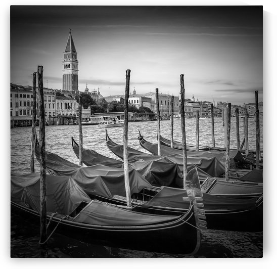 VENICE Grand Canal and St Mark's Campanile | Monochrome by Melanie Viola