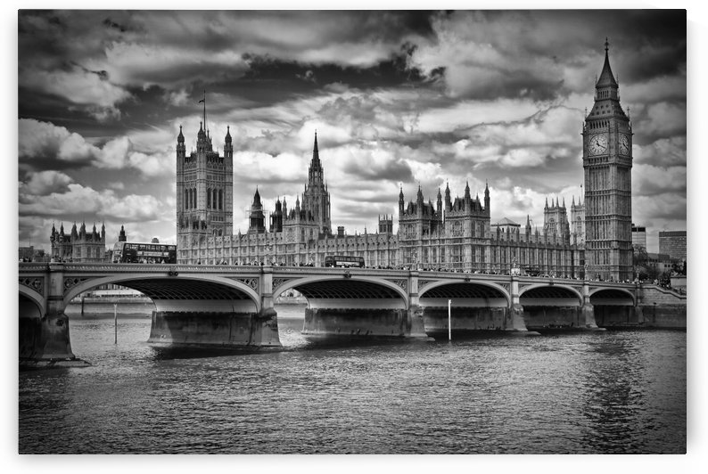 LONDON Houses of Parliament & Westminster Bridge by Melanie Viola