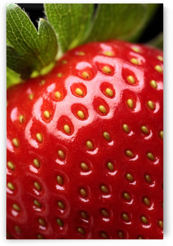 Fresh strawberry close-up by Johan Swanepoel