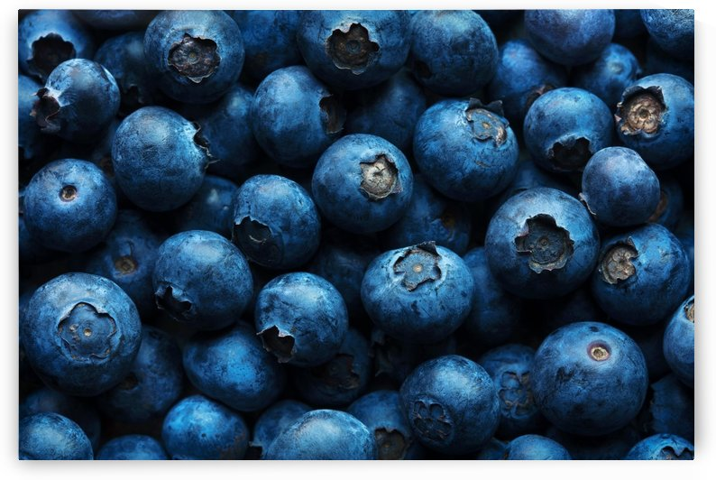 Blueberries Background Close-up by Johan Swanepoel