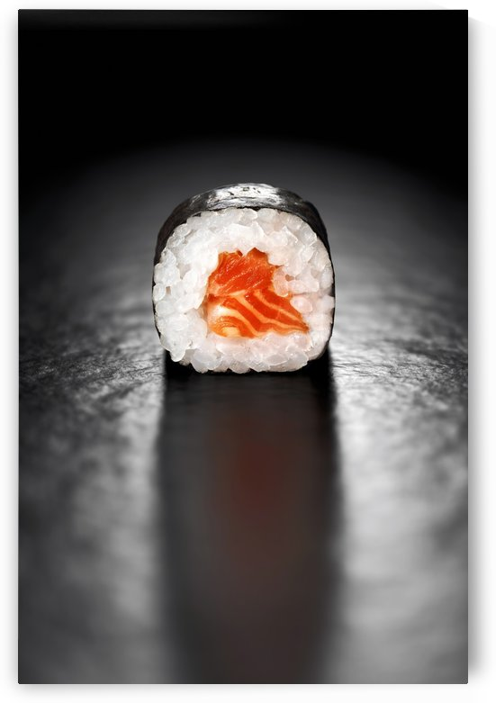 Maki Sushi Roll with Salmon by Johan Swanepoel
