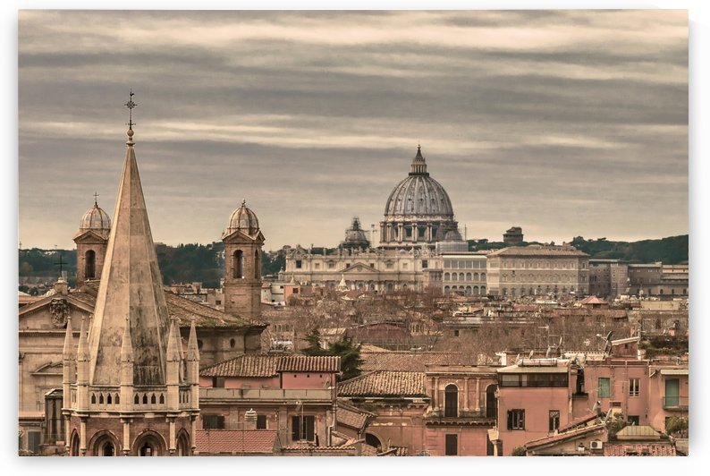Rome Aerial View From Monte Pincio Sightseeing by Daniel Ferreia Leites Ciccarino