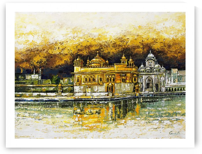 golden temple_ Gold by Gurdish Pannu