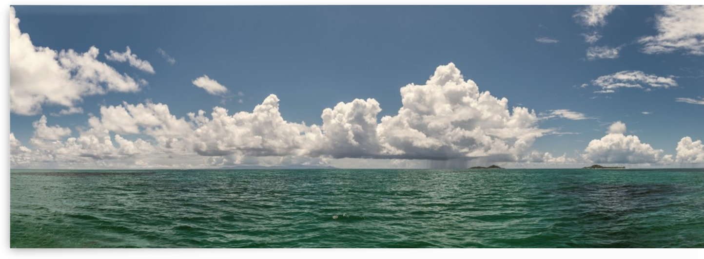 Sea view of the clouds and the sea. by Dmiry Laudin