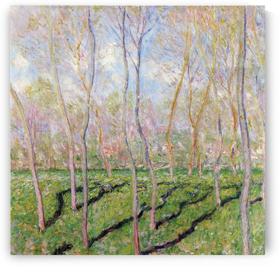 Trees in winter, look at Bennecourt by Monet by Monet
