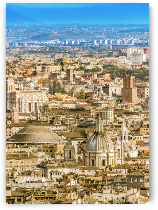Rome Aerial View From Saint Peter Basilica Viewpoint by Daniel Ferreia Leites Ciccarino