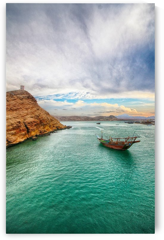 Watchtower and the dhow - Sur - Sultanate of Oman by Safak Yavuzlar