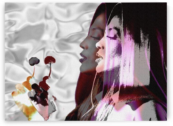 Jennifer Lopez Abstract  by Nina