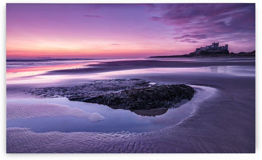Bamburgh Castle dawn by Keith Truman