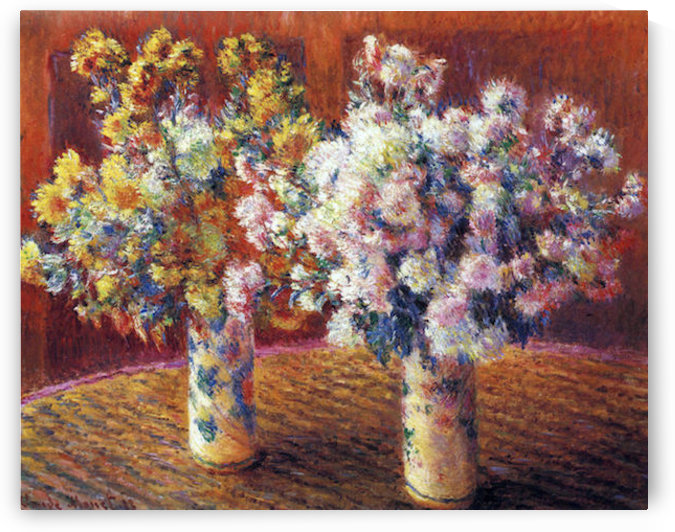 Two vases with Chrysanthemums by Monet by Monet
