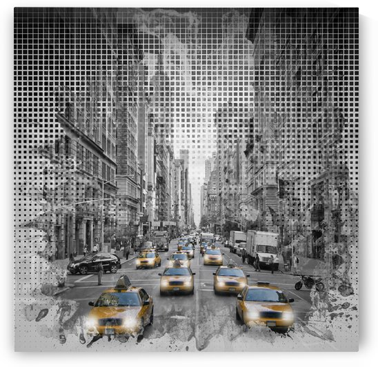 Graphic Art NEW YORK CITY 5th Avenue Traffic by Melanie Viola