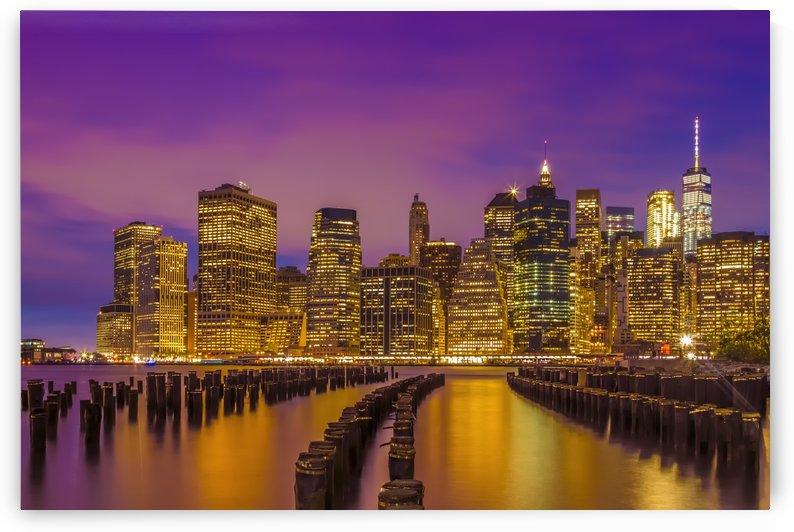 MANHATTAN SKYLINE Bright Sunset by Melanie Viola