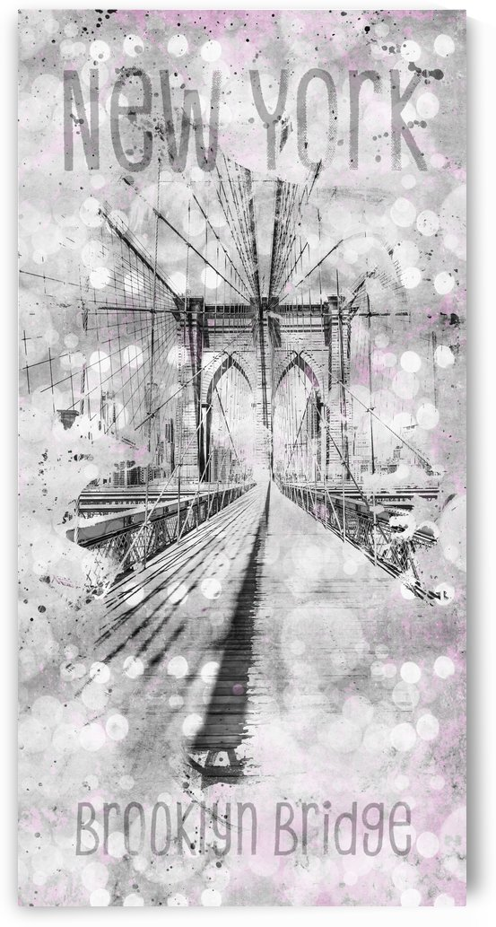 Graphic Art NEW YORK CITY Brooklyn Bridge by Melanie Viola