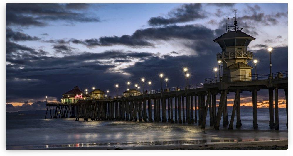 Pier at Sunset by Laurie