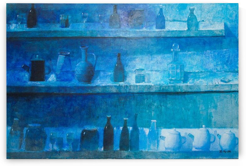 Still Life in Blue by Zurab Gikashvili