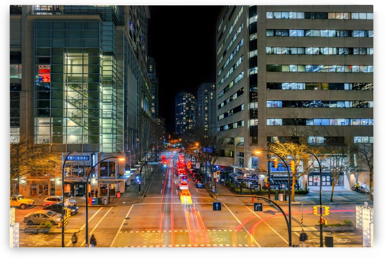 big megalopolis at night with a traffic light by Viktor Birkus