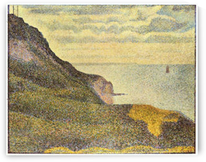 View of Port-en-Bessin by Seurat by Seurat