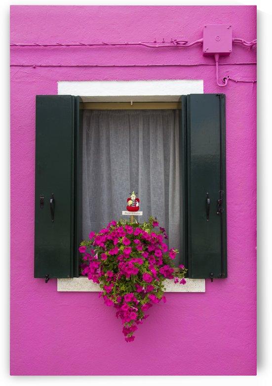 Colored window in Burano by Pietro Ebner