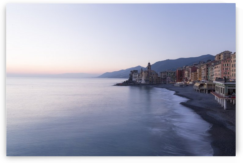 Sunset in Camogli by Pietro Ebner