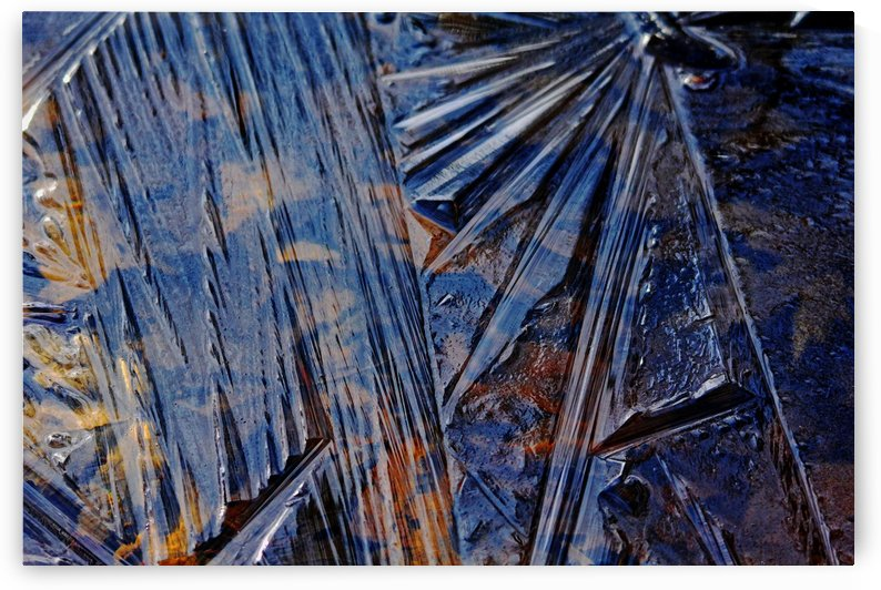 Blue And Brown Ice Design by Deb Oppermann