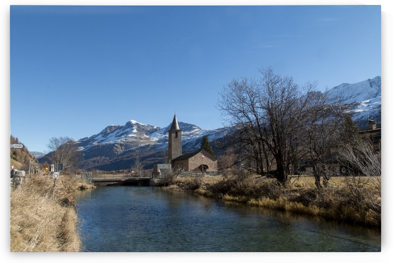 Church in Engadin by Pietro Ebner