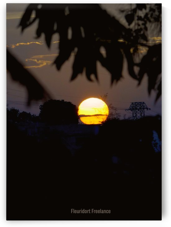 coucher de soleil by Jeff Emmanuel Fleuridort
