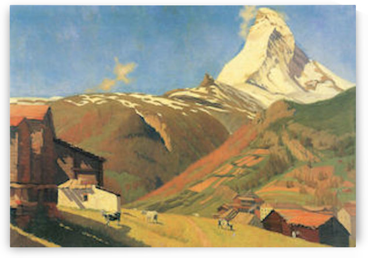 View of Zermatt by Felix Vallotton by Felix Vallotton