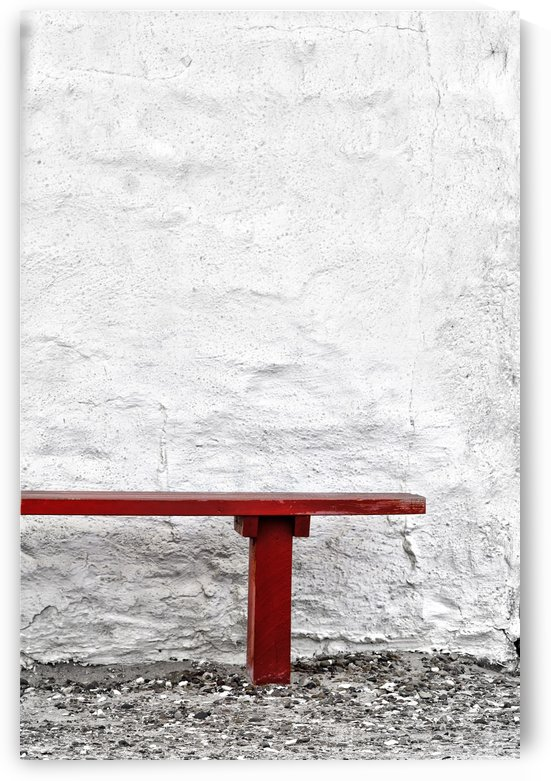 Red Bench by Kirsten Warner