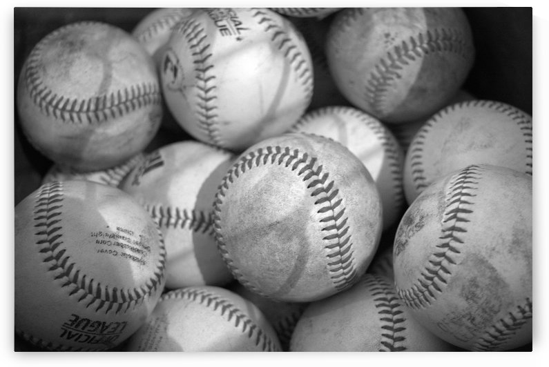 Baseballs in Black and White by Leah McPhail