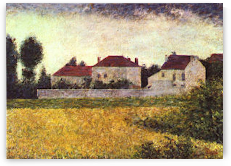 Ville dAvray, The white houses by Seurat by Seurat