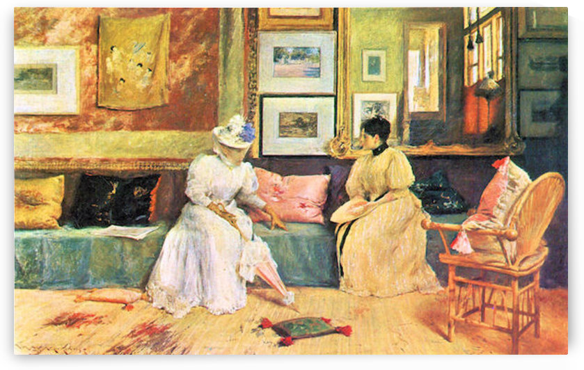 A friendly visit by William Merritt Chase by William Merritt Chase