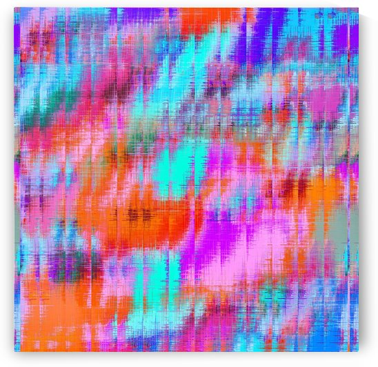 psychedelic geometric painting texture abstract background in pink blue orange purple by TimmyLA