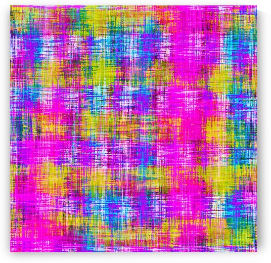 plaid pattern painting texture abstract background in pink purple blue yellow by TimmyLA