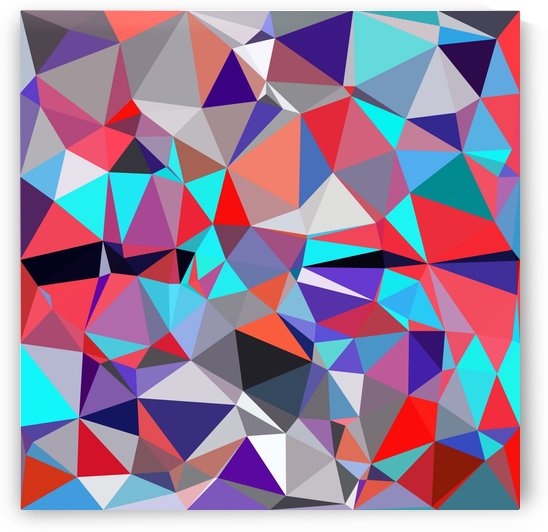 geometric triangle polygon pattern abstract background in red blue purple by TimmyLA